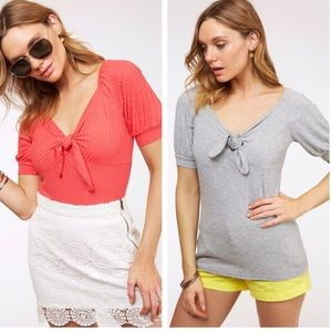 ❤️coral or grey top